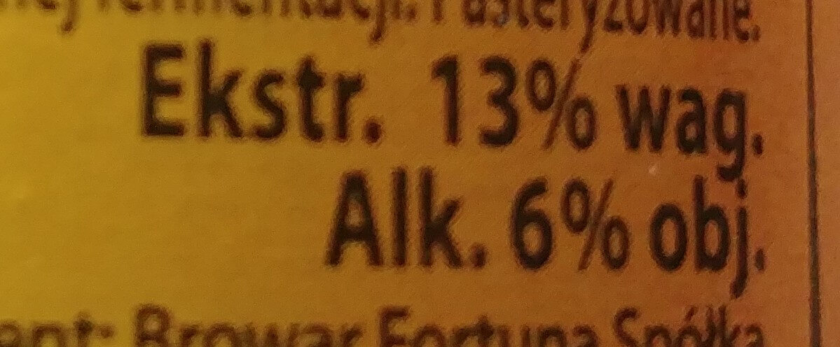 Blond Ale - Nutrition facts - pl