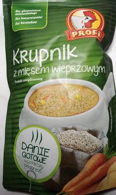 Krupnik z mięsem wieprzowym - Produkt - pl