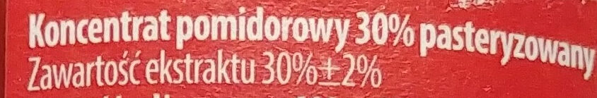 Koncentrat pomidorowy 30% - Składniki - pl