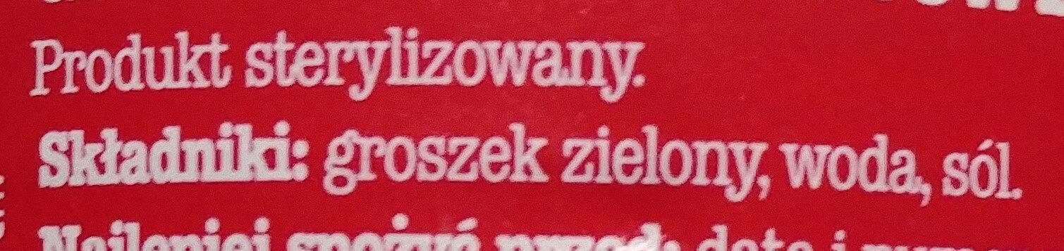 Groszek zielony konserwowy - Ingredients - en