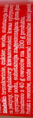 Dżem Brzoskwiniowy niskosłodzony - Składniki - pl