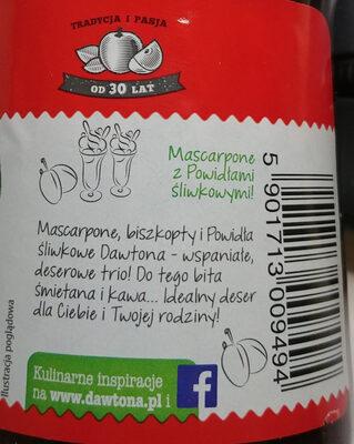 Powidła śliwkowe - Wartości odżywcze - pl