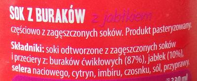 Apple and beetroot Juice - Składniki