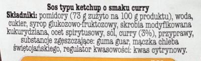 Sos Curry - Składniki - pl