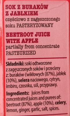 Sok z buraków z jabłkiem - Ingredients - pl