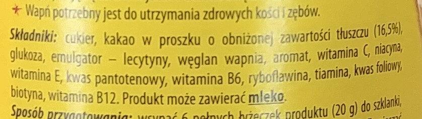 MixFix cao - Składniki - pl