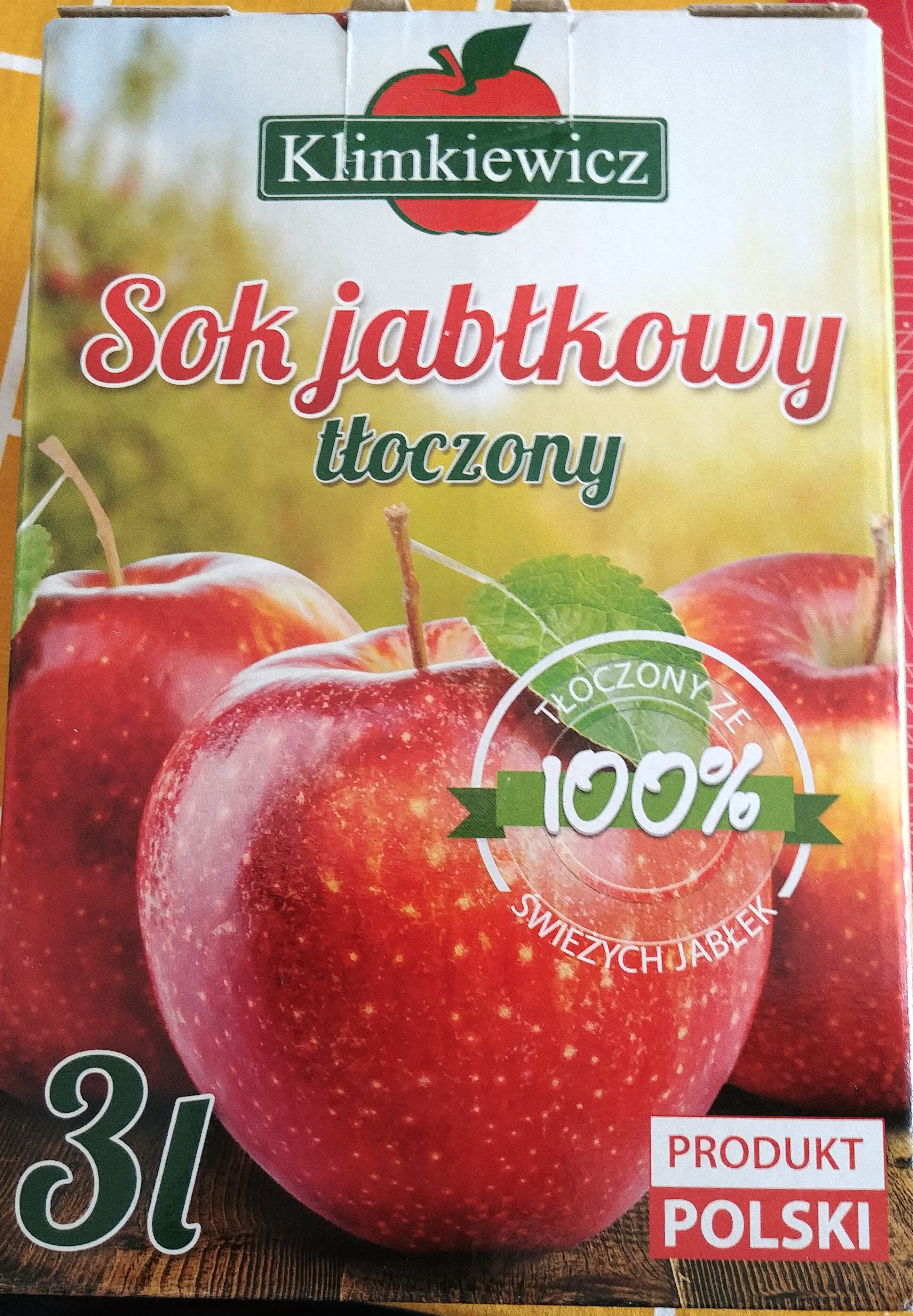 Sok jabłkowy tłoczony - Product