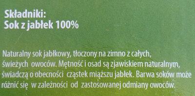 Sok jabłkowy tłoczony - Ingredients