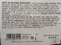 Salami Delikatesowe - Ingrediënten - pl