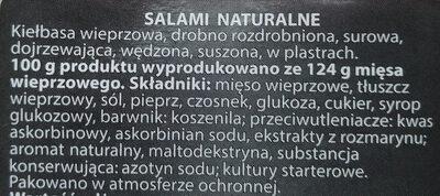 Salami naturalne - Składniki - pl