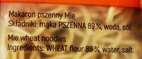 Makaron pszenny Mie - Składniki - pl