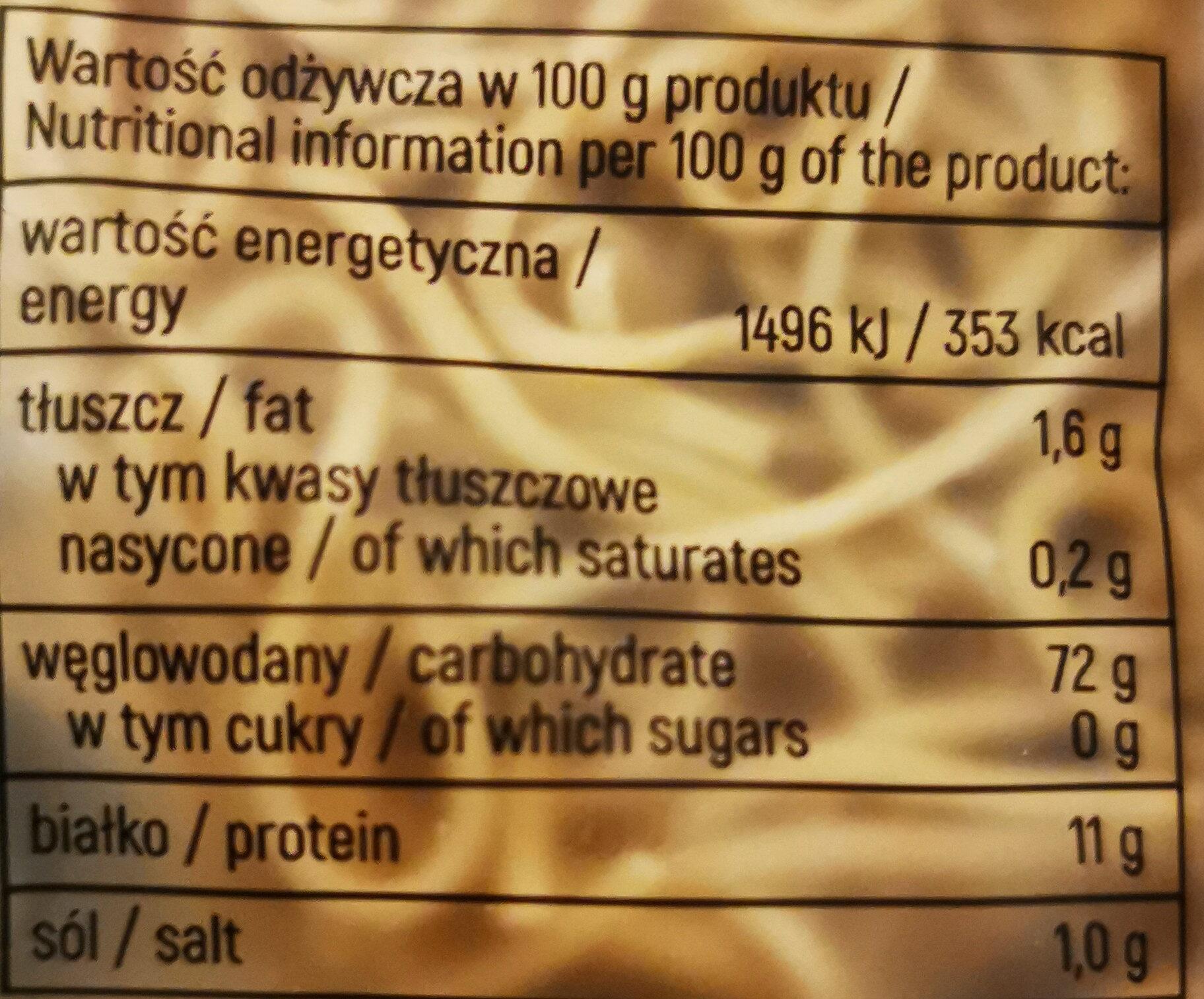 Makaron pszenny Mie - Wartości odżywcze - pl