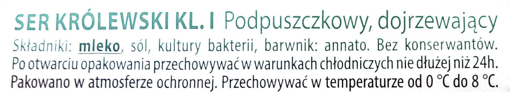 Ser królewski plastry - Składniki - pl