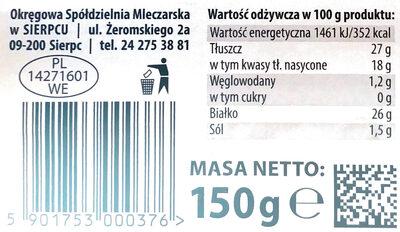 Ser królewski plastry - Wartości odżywcze - pl