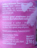 Ćwikła z chrzanem - Ingredients - pl