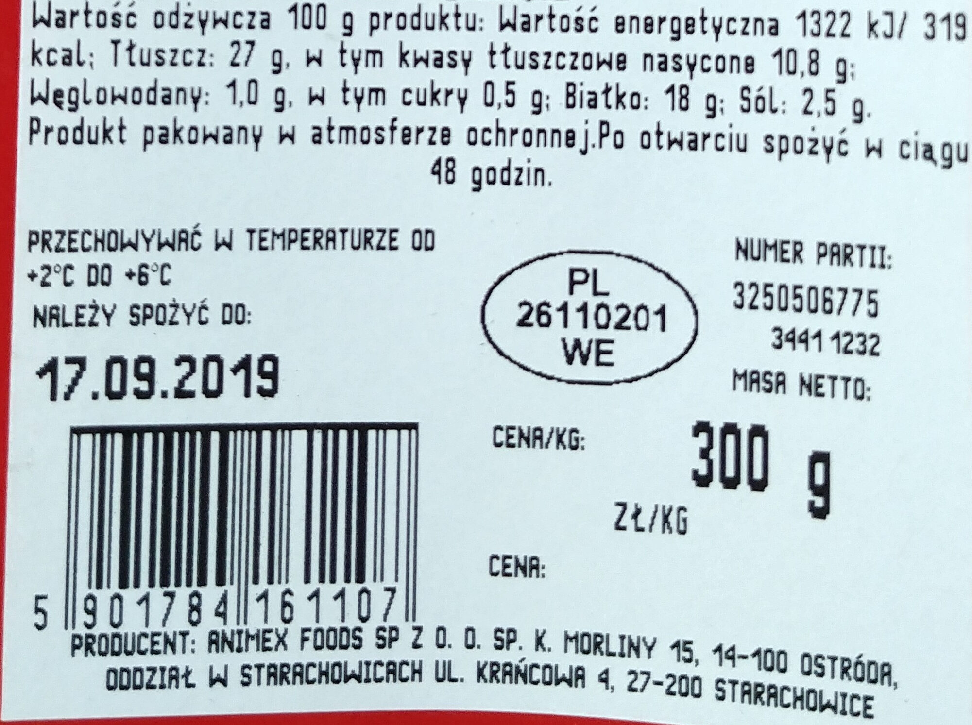 Kiełbaski pieprzowe - Wartości odżywcze - pl