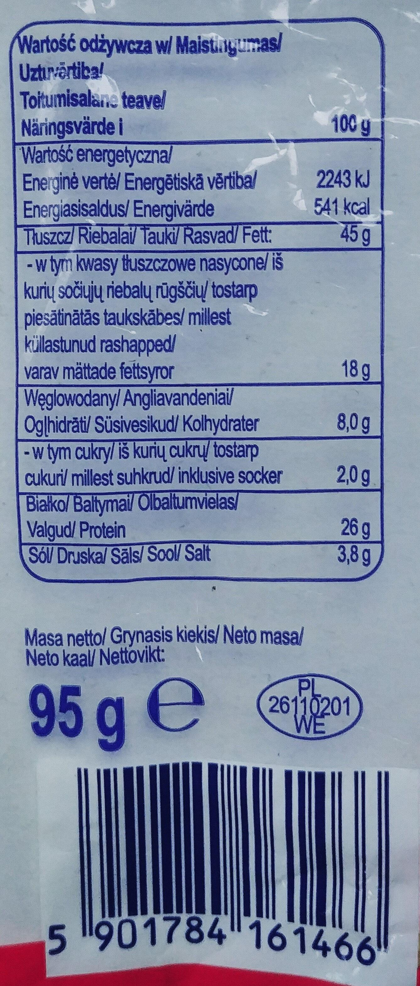 Kabanos drobiowo-wieprzowy - Wartości odżywcze - pl