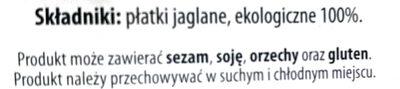 Płatki jaglane Bio - Składniki - pl