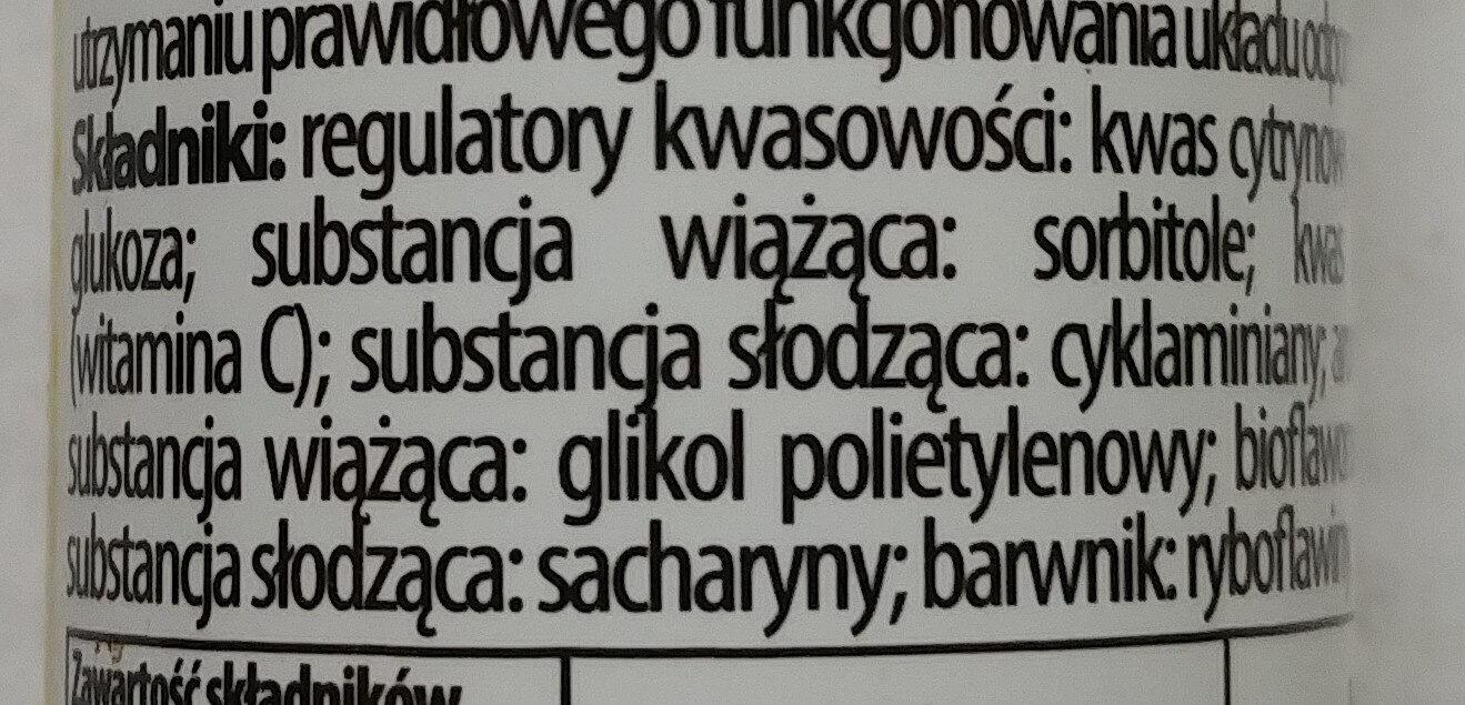 Witamina C + bioflawonoidy - Ingrédients