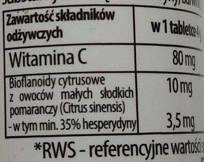 Witamina C + bioflawonoidy - Wartości odżywcze