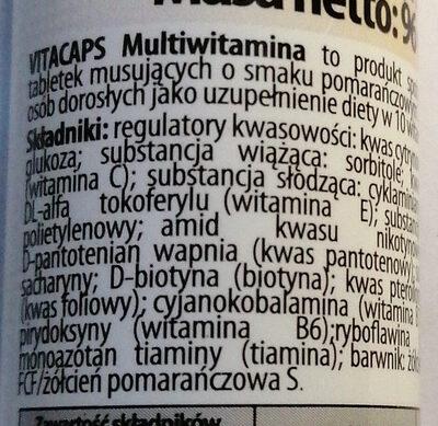 Vitacaps Multivitamina - Ingrédients
