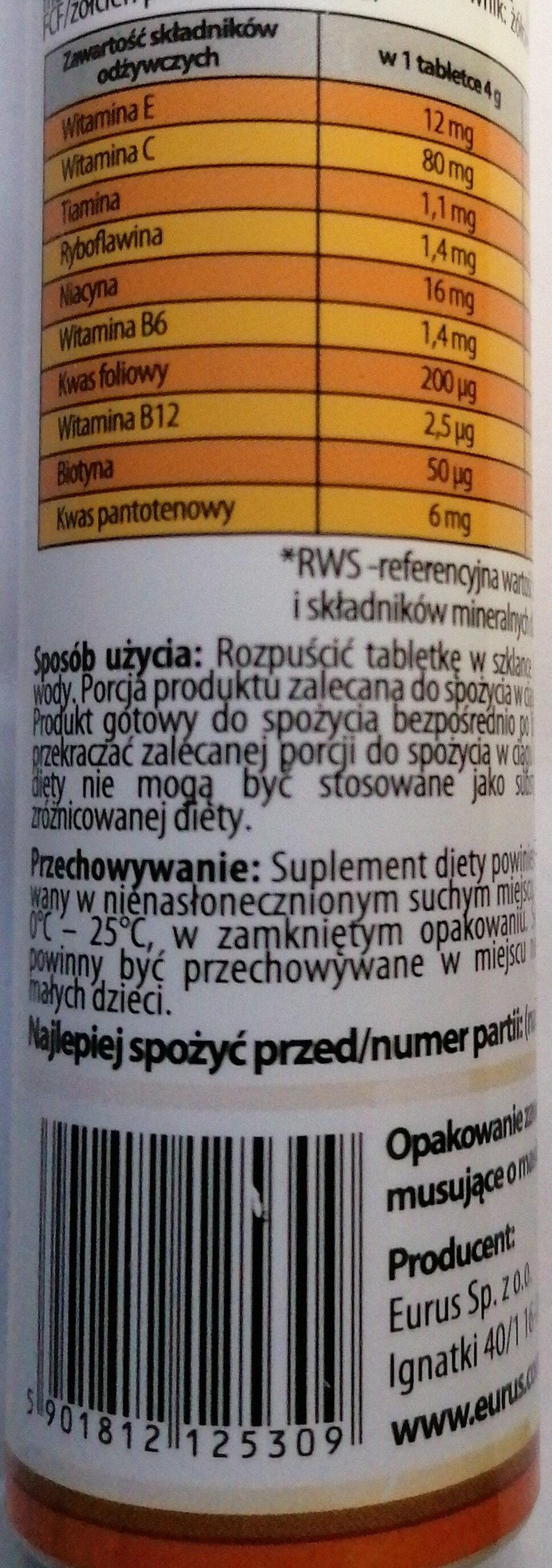 Vitacaps Multivitamina - Informations nutritionnelles