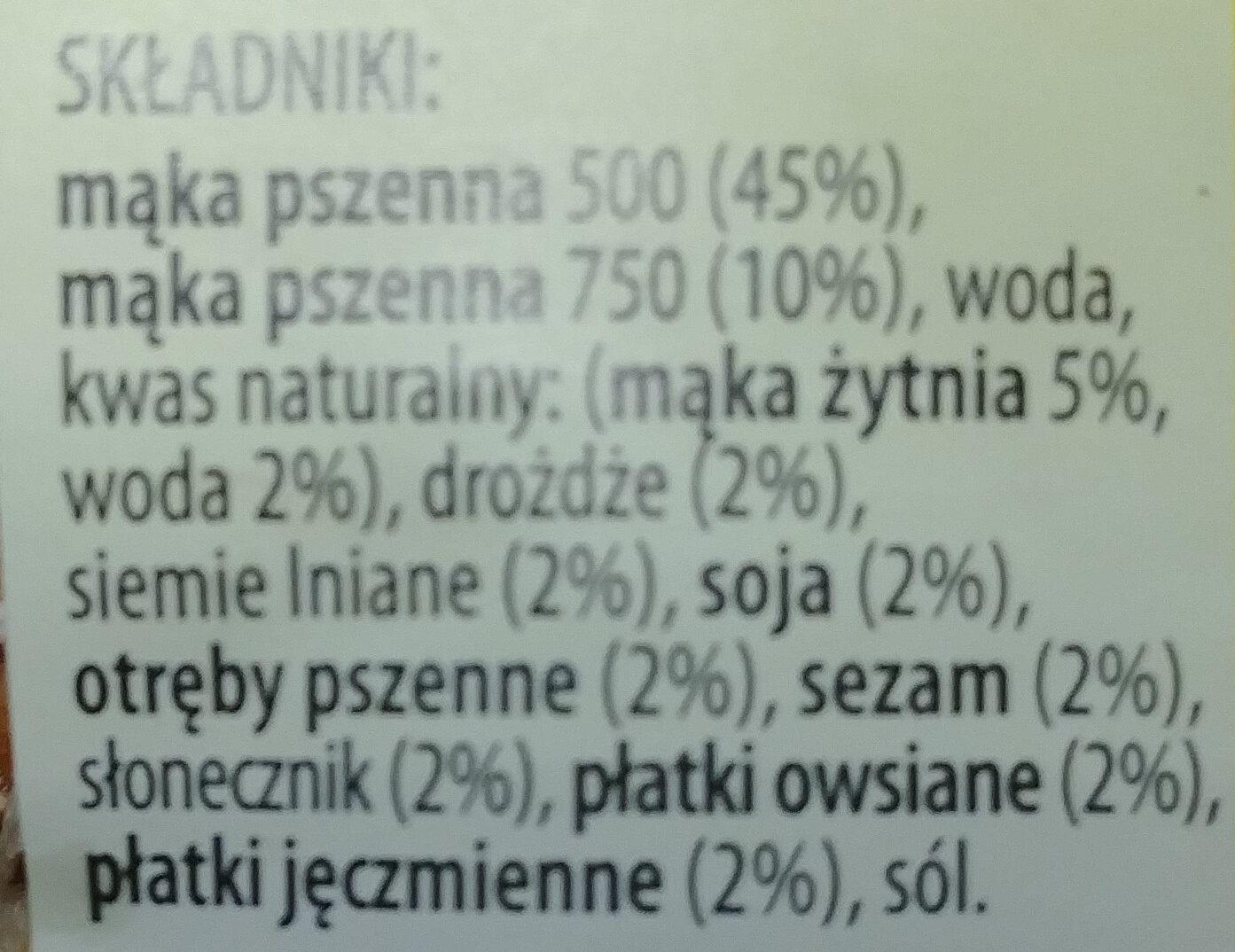 Chleb wieloziarnisty - Ingredients - pl