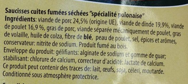 Saucisse au mètre - Ingredients - fr