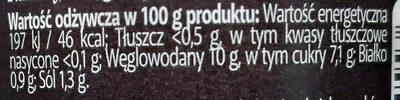 SMAK Gewürzgurken mit Knoblauch - Wartości odżywcze