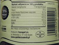 Kiełbasa biała - Wartości odżywcze