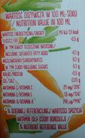 Sok z marchwi - Nutrition facts - pl