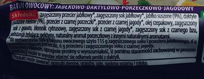 Baton owocowy - Składniki - pl
