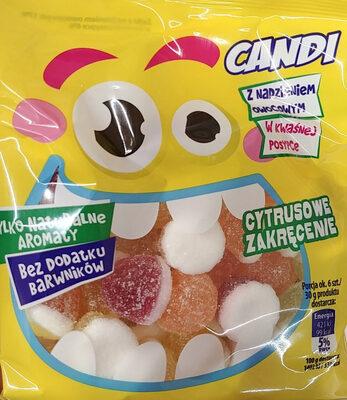 Żelki z nadzieniem owocowym w kwaśnej posypce - Produkt - pl