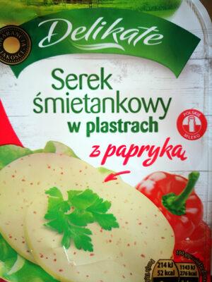 Serek śmietankowy w plastrach z papryką - Produkt - pl