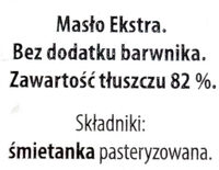 Butter extra - Składniki - pl