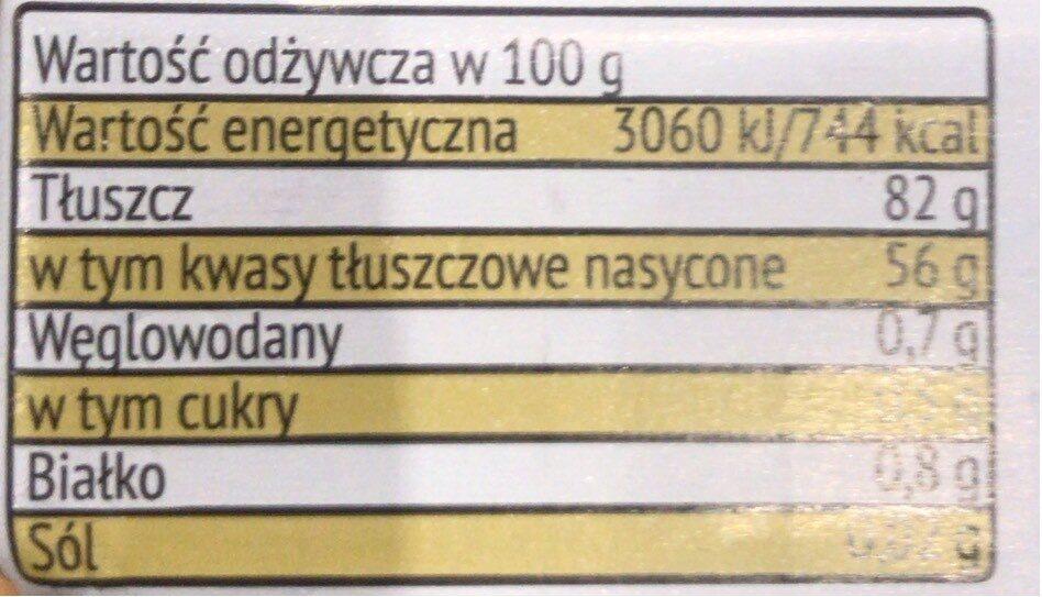 Butter extra - Wartości odżywcze - pl