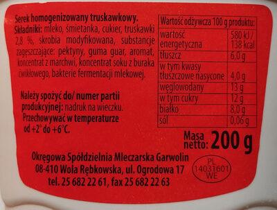 Serek truskawkowy - Składniki - pl