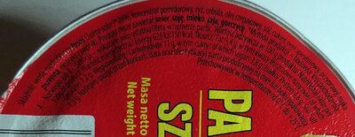 Paprykarz Szczeciński - Wartości odżywcze
