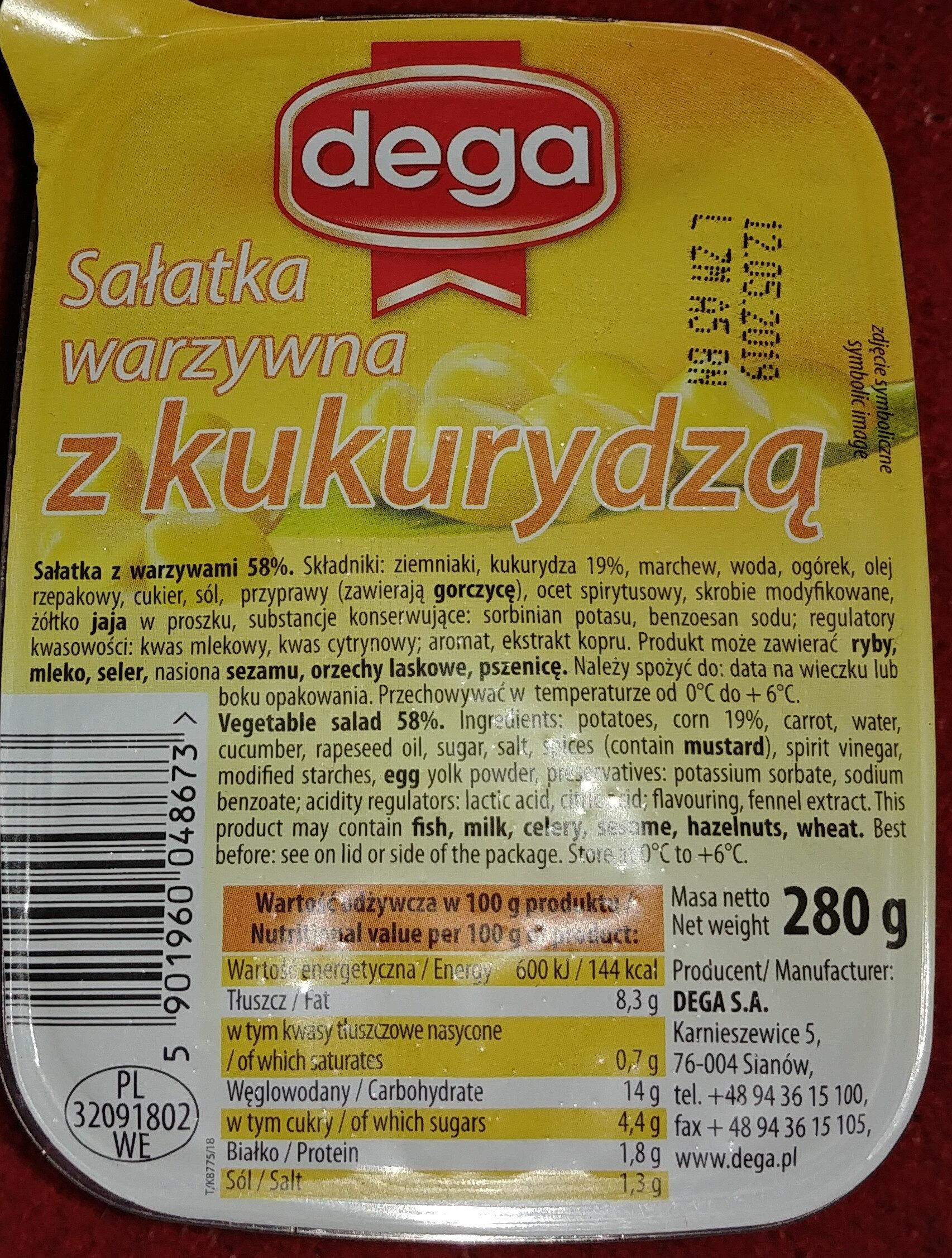 Sałatka warzywna z kukurydzą - Produkt