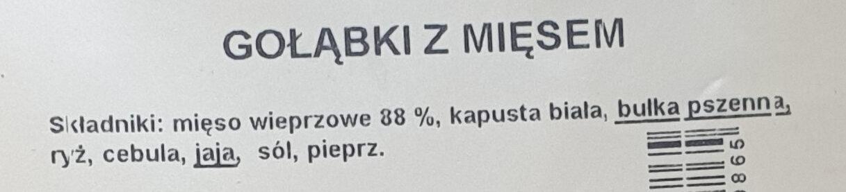 Gołąbki z mięsem - Składniki - pl