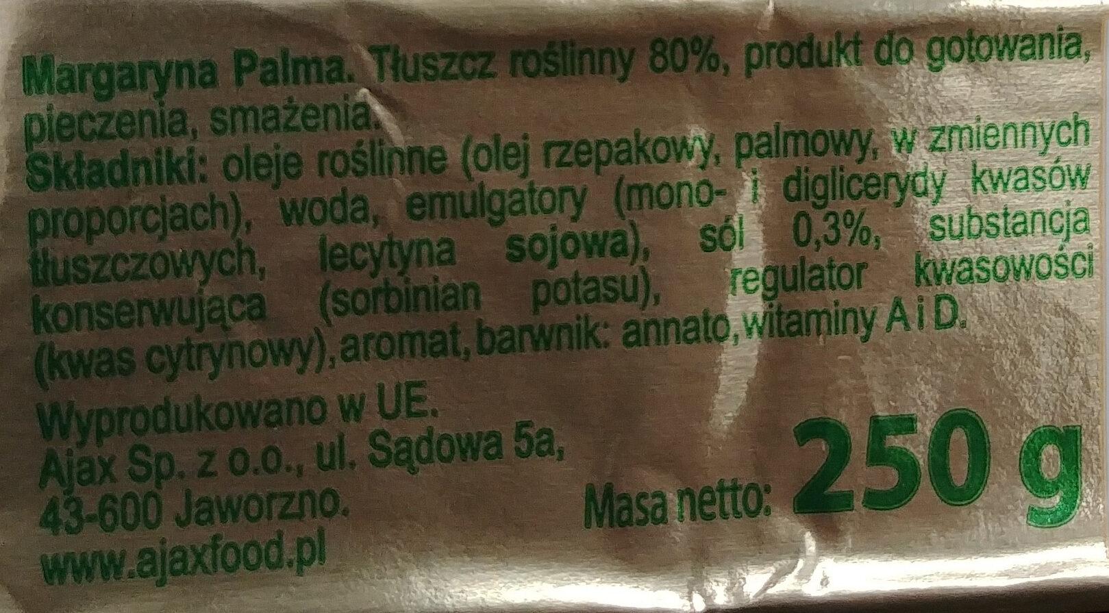 Margaryna palma - Składniki - pl