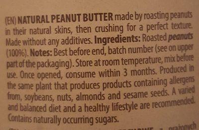 So Good Peanut Butter Crunchy - Ingrédients