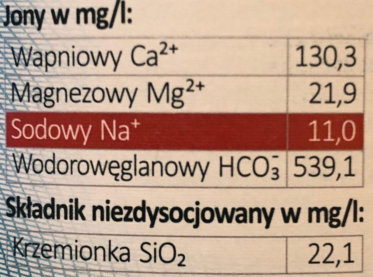 woda mineralna niegazowana - Wartości odżywcze - pl