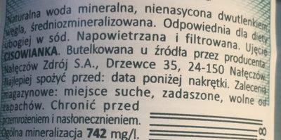 Nac Woda Cisowianka N / Gaz 0, 5L - Składniki - de