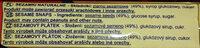 Sezamki naturalne - Ingrediënten - pl