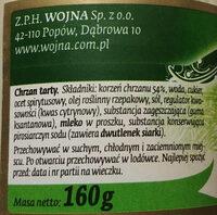 Chrzan tarty - Składniki - pl
