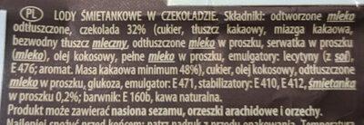 Lody śmietankowe w czekoladzie - Składniki
