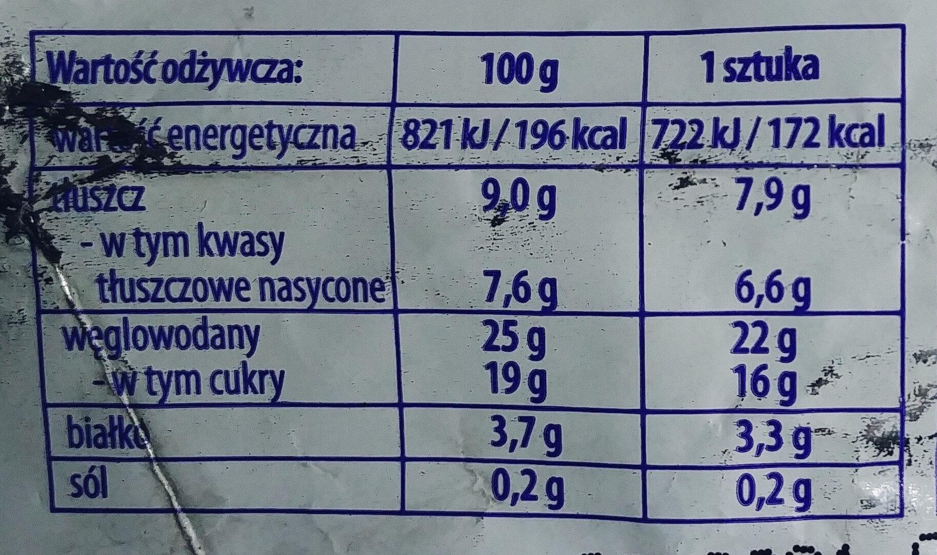 Lody śmietankowe - kostka śnieżna - Nutrition facts