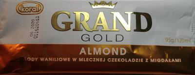 Lody waniliowe w mlecznej czekoladzie z migdałami - Produkt