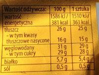 Lody waniliowe w mlecznej czekoladzie z migdałami - Wartości odżywcze - pl